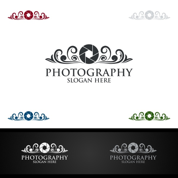 abstrakte kamera fotografie logo