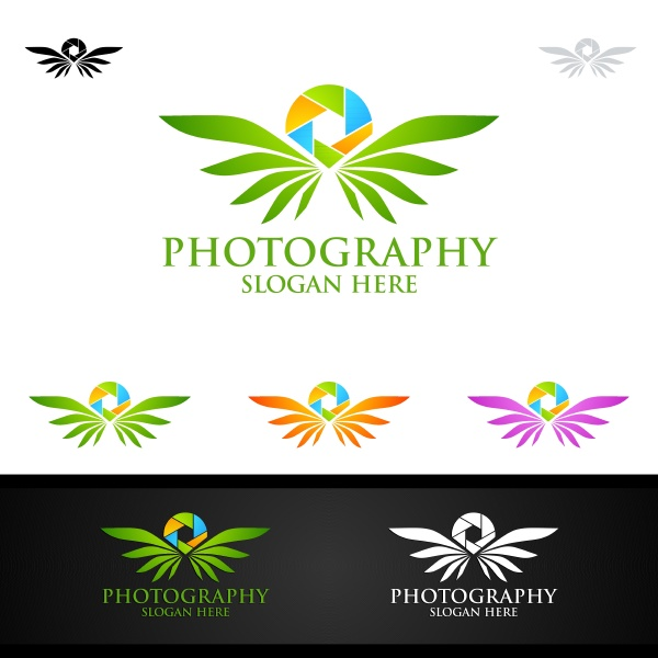 fliegenfluegel kamera fotografie logo