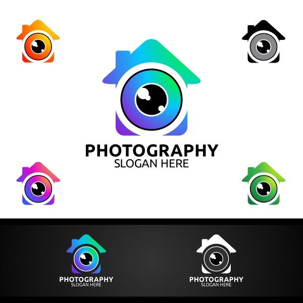 home kamera fotografie logo icon vektor