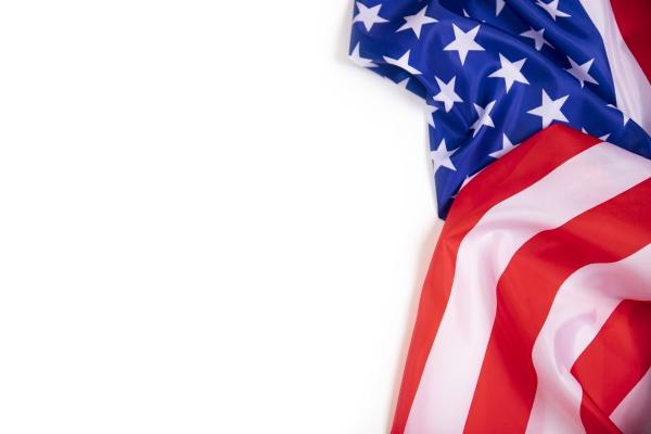 nahaufnahme der amerikanischen flagge mit kopierraum