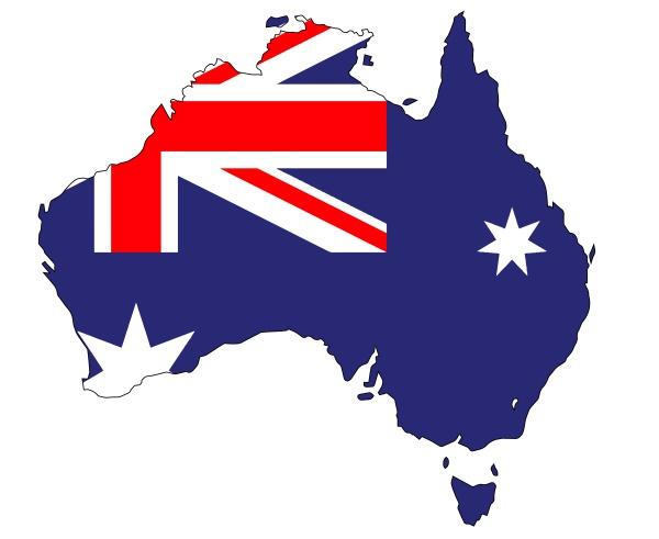 australia, flag, map - 28941929