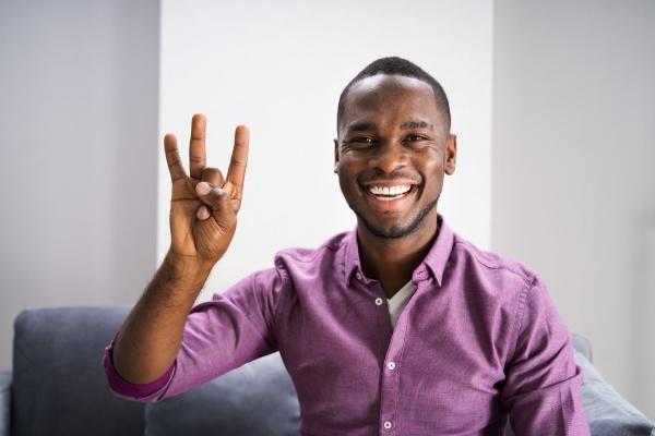 african american deaf man