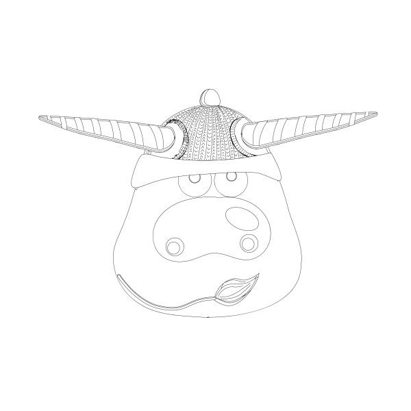 malseite ox kuh oder stier vektor