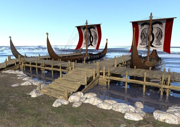 3d-rendering, wikingerboote - 28965641