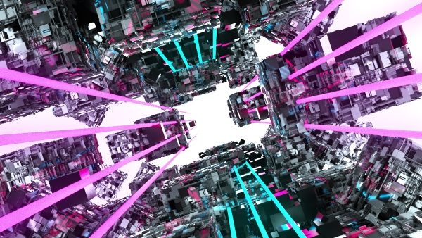 3d rendering des sci fi tunnels