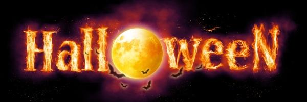 halloween kuerbis gesicht mit brennendem feuer
