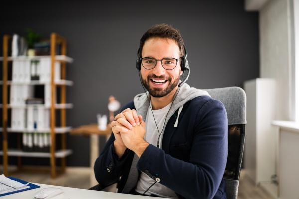 video konferenz online interview business call