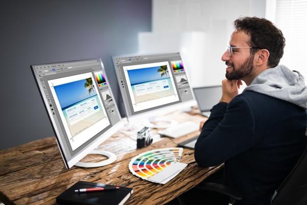 designer bearbeitung von fotos