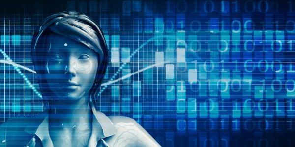 chinesische geschaeftsfrau mit data analytics technologie