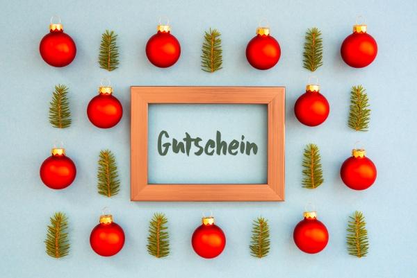 weihnachten textur ball zweig rahmen gutschein