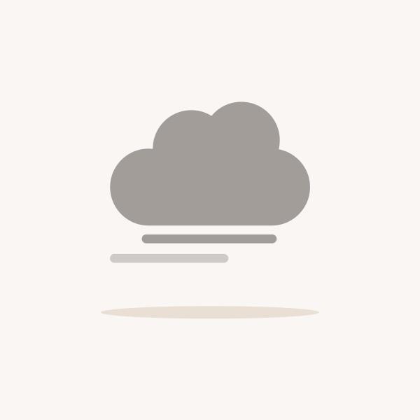 nebel und wolken farbsymbol mit schatten