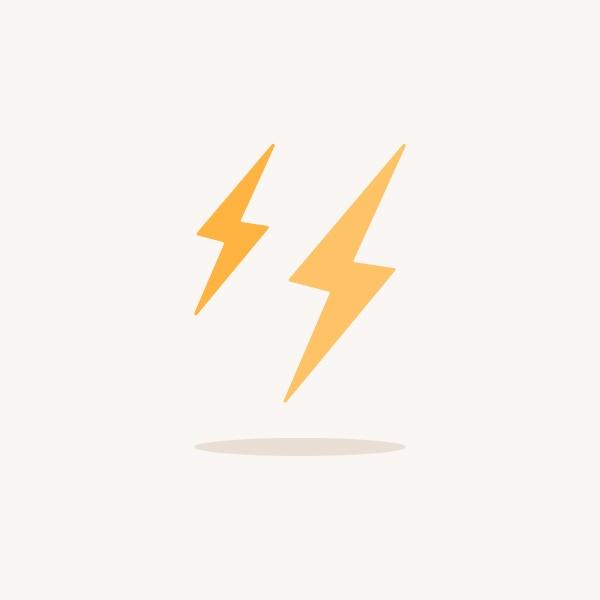 blitz farbsymbol mit schatten wettervektor illustration