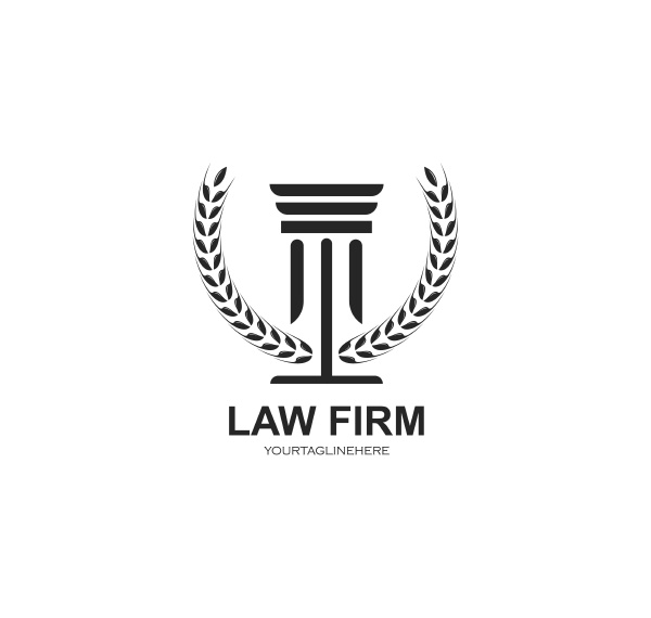 rechtsanwalt logo vektor symbol vorlage