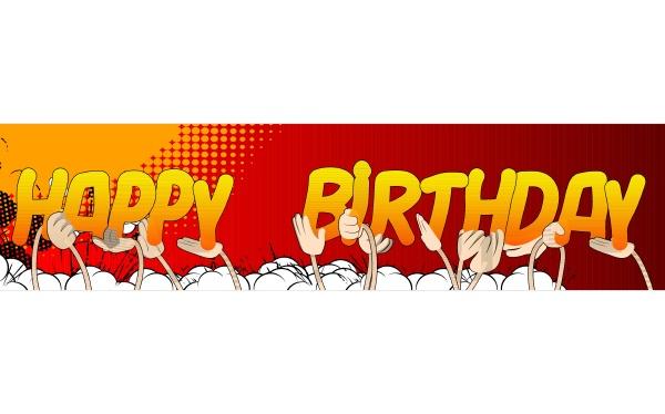 haende die das wort happy birthday