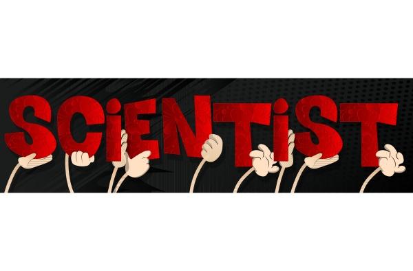 haende halten das wort wissenschaftler