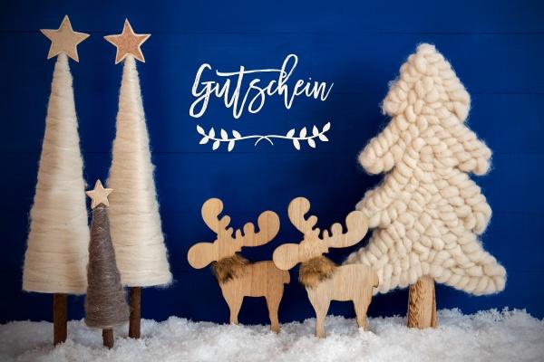weihnachtsbaum elch schnee gutschein bedeutet gutschein