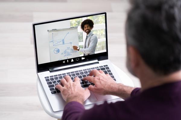 virtuelles online schulungsmeeting