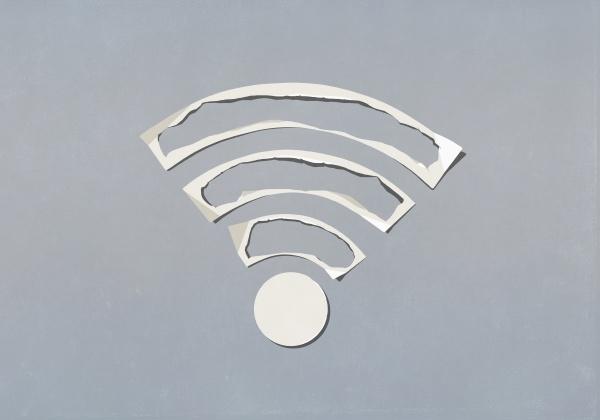 papierausschnitte bilden wifi symbol
