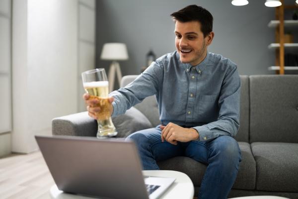 virtuelles beer pub party event