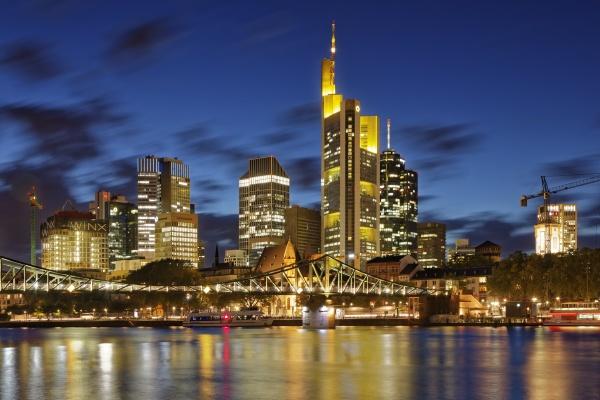deutschland hessen frankfurt skyline des finanzviertels