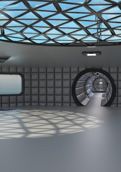 3d, rendering, science, fiction, corridor - 29220187