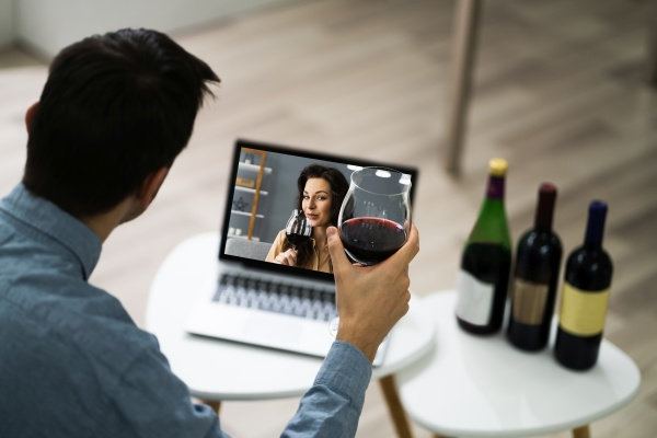 virtual wine tasting event party