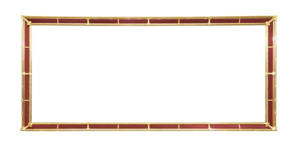 goldener dekorativer bilderrahmen mit roten elementen
