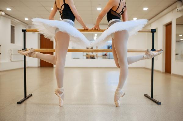 elegante ballerinas UEbung an der barre