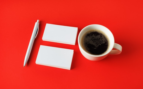 business, cards, , coffee, , pen - 29633087