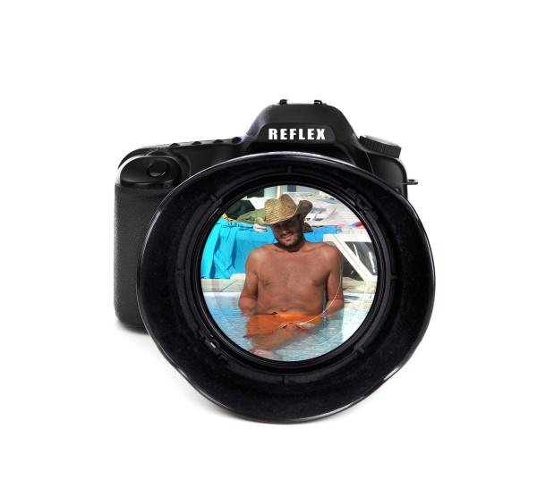 digitale fotokamera mit tourist