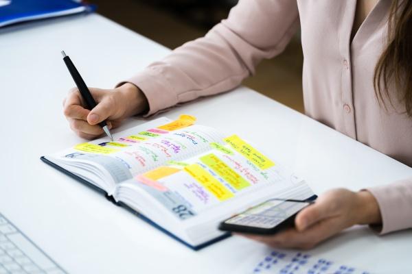 wochenaufgabenlistenplan und agenda