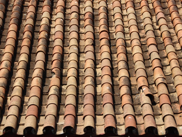 old, tile, brick, roof, with, ending - 29743695