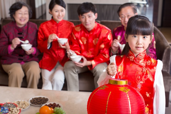 chinesische kultur vielversprechende kinder grosseltern laterne