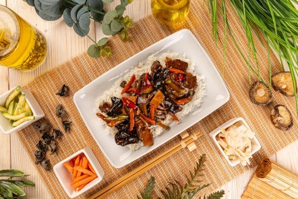 gemuese shiitake und bambussprossen