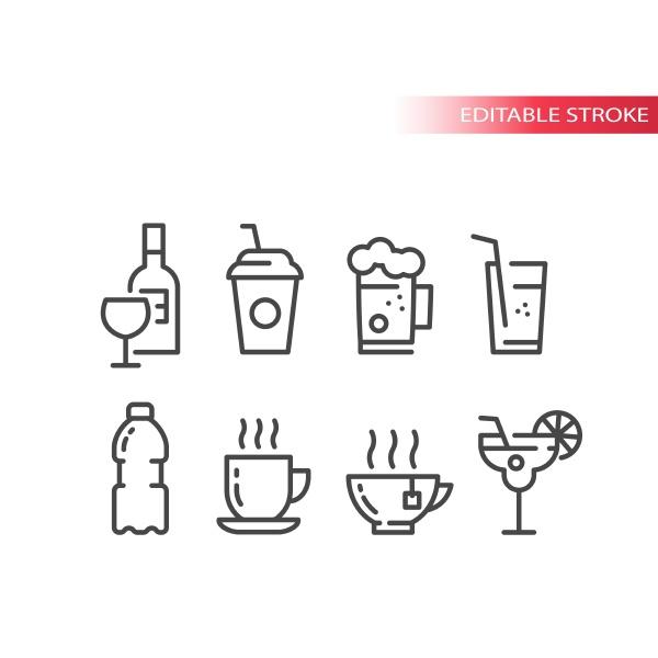 tasse, und, glas, für, cocktail-, kaffee-, und - 29787658