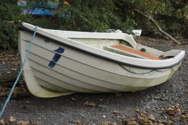 ein ruderboot oder ein skiff