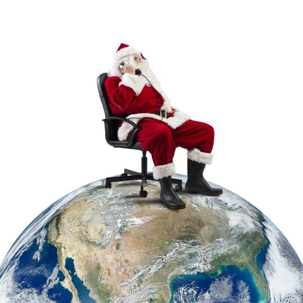 weihnachtsmann erhaelt anfragen per telefon