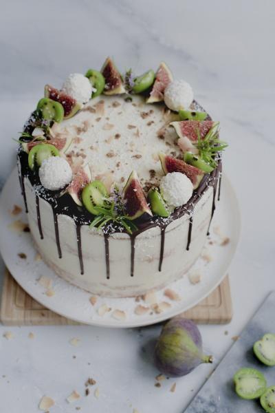 passionsfrucht frischkaese tarte mit kokosnuss kiwi