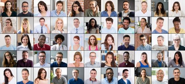 gruppe avatar fotos collage multikulturelle menschen