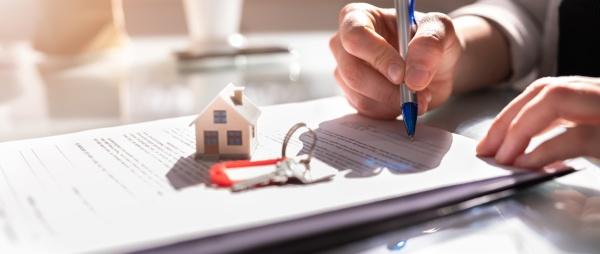 unterzeichnung des vertragsdokuments fuer den mietvertrag