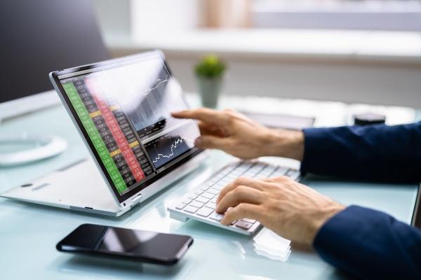 boerse boerse broker broker handel laptop