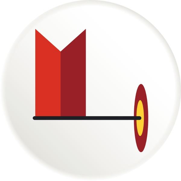 flagge, im, gps-symbol, flacher, stil - 30088279
