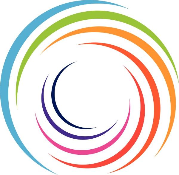 spirale in farbe farbig maler logo