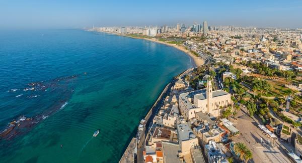 luftaufnahme von tel aviv yafo israel