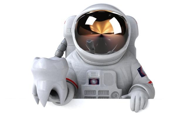 spaß, astronaut, -, 3d-illustration - 30147086