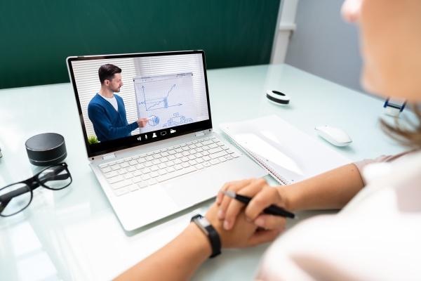webinar zur virtuellen online schulungsvideokonferenz
