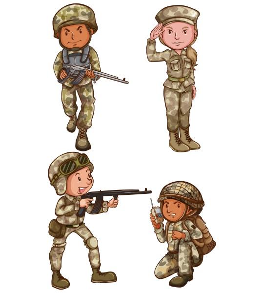 vier, tapfere, soldaten - 30197295