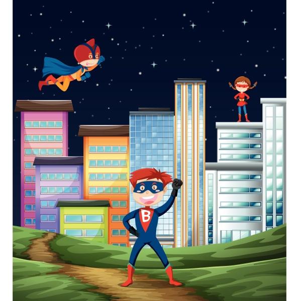 kinder superhelden szene