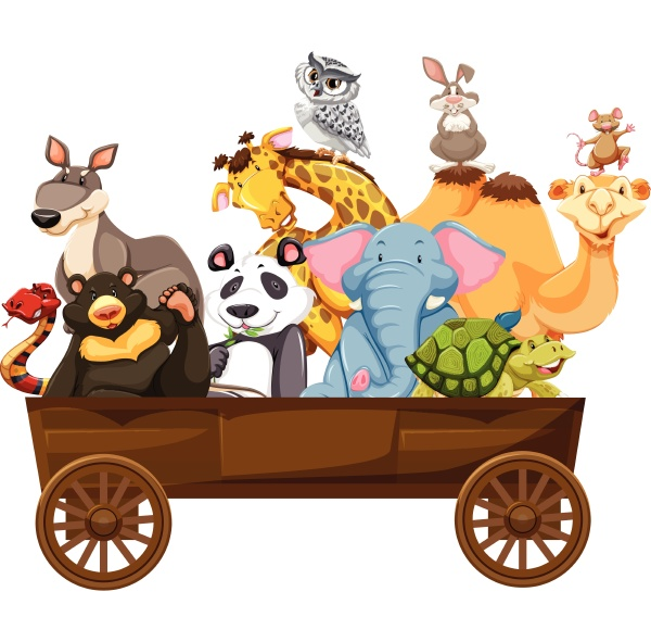 many, kinds, of, animals, in, wooden - 30257959