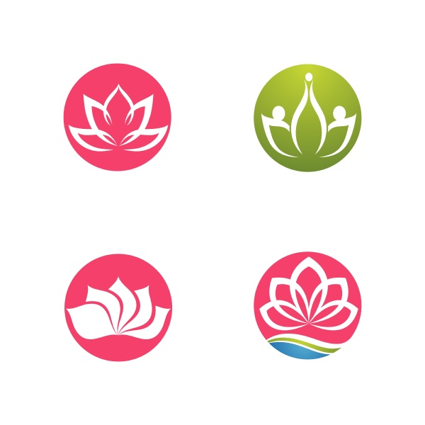 beauty, vector, lotus, icon - 30308489
